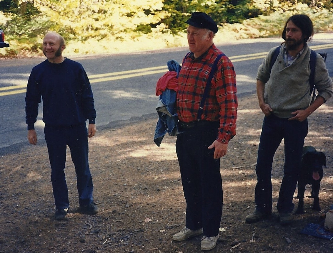 Ken Kesey, his brother Chuck (left) and Ken Zimmerman (Right)(Photo courtesy of Jane Sather).