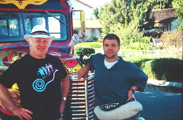 Jeff Forester and Ken Kesey sometime in the 19990's. Credit: Jeff Forester.
