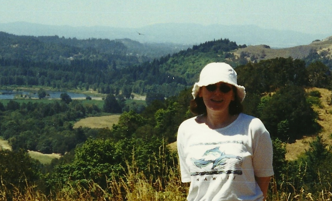 Jane Sather atop Mt. Pisgah.