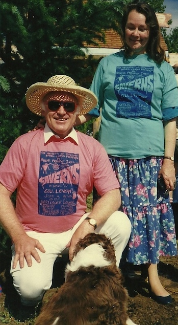 Ken Kesey and his wife Faye in their Caverns shirts (Photo courtesy of Jane Sather).