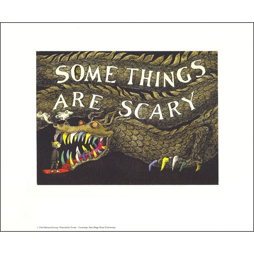 """Some Things Are Scary"" by Edward Gorey. Credit: The Edward Gorey House."