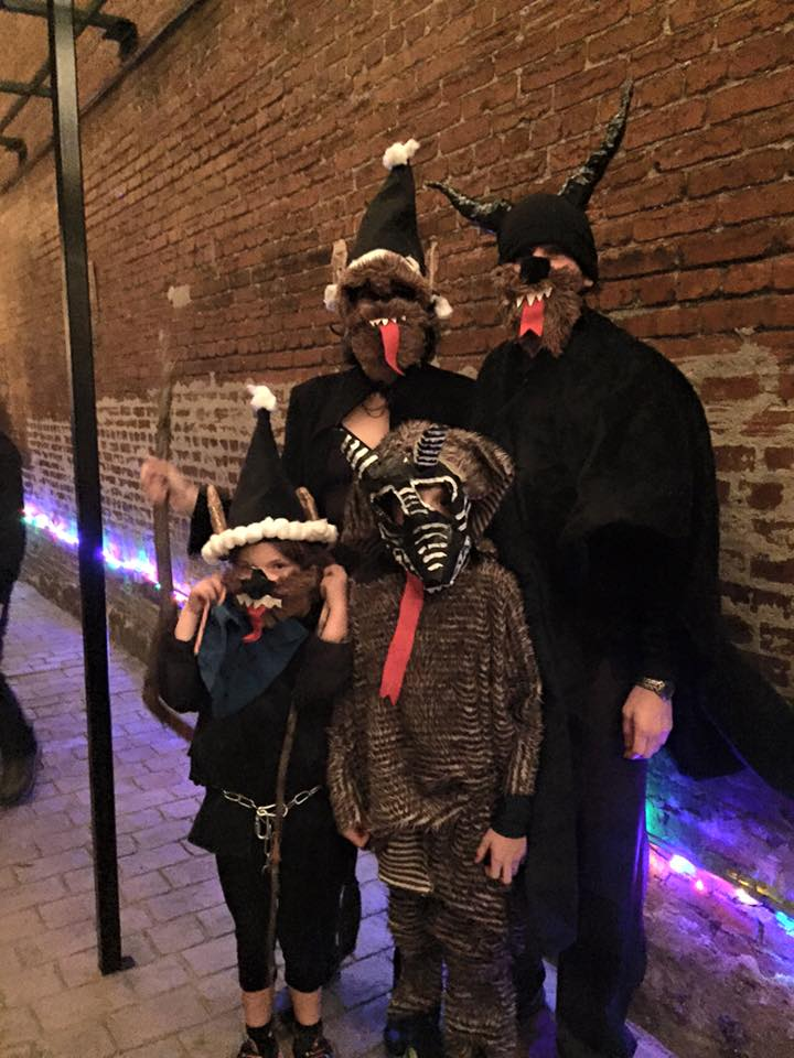 The Carter family on Krampusnact, 2015.